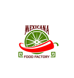icon for mexican food restaurant vector image vector image