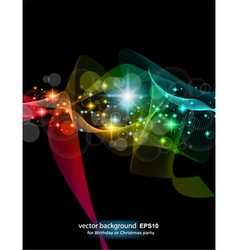 Abstract rainbow flow vector