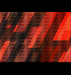Abstract technology concept red and black vector