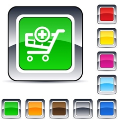 add to cart square button vector image
