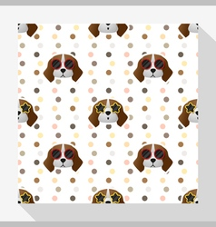 Animal seamless pattern collection with beagle dog vector