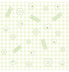 Baby Boy teddy Pattern vector image vector image