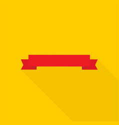 banner ribbon in flat style vector image