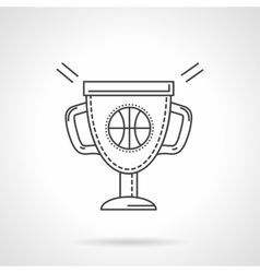 Basketball cup flat line design icon vector image