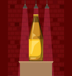 Best drink bottle alcohol icon vector