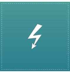 Bolt flat icon vector