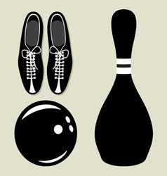 bowling set1 resize vector image