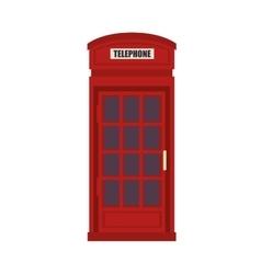 British telephone cabin vector