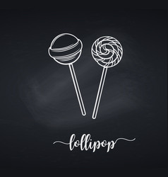 chalk lollipop candy on stick vector image
