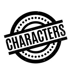 characters rubber stamp vector image