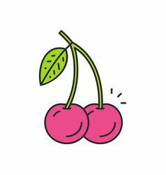 Cherries icon vector