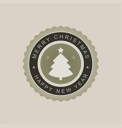 Christmas round sign of a light green hue vector