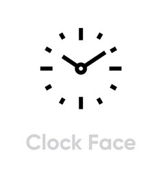 clock face icon editable outline vector image