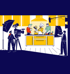 culinary program show or blog broadcasting man vector image