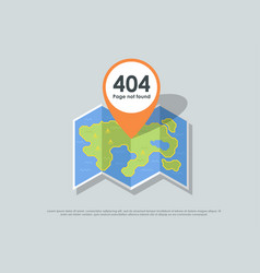 Design 404 error template reports that the page vector