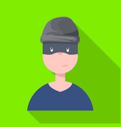 Design thief and burglar logo vector