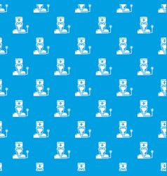 doctor pattern seamless blue vector image