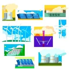 Eco Energy Symbols Set vector image
