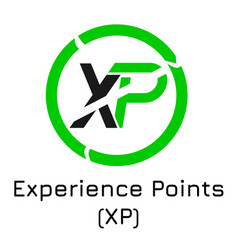 Experience points xp crypt vector