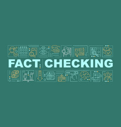 Fact checking word news concepts banner vector
