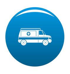 fast ambulance icon blue vector image