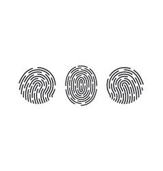 fingerprint icons thumb finger logo print vector image