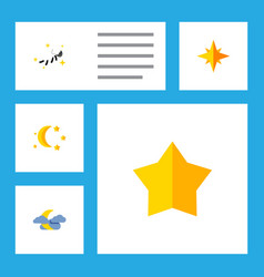 Flat icon midnight set of midnight asterisk vector