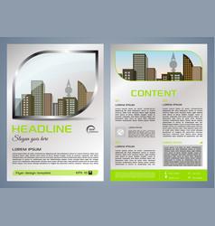 Flyer corporate business with metal window vector