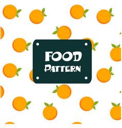food pattern orange background image vector image