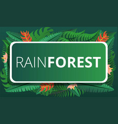 green rainforest concept banner cartoon style vector image