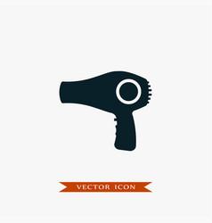 Hair dryer icon simple barbershop vector