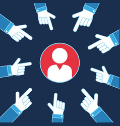 hands pointing on person vote business vector image