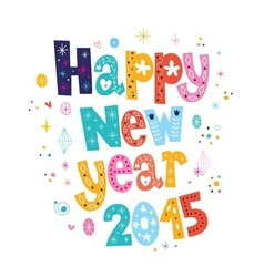 Happy New year 2015 card 3 vector