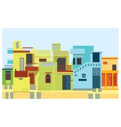 House set Asian Indian city vector