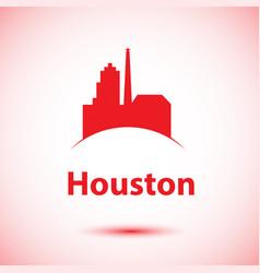 Houston usa detailed silhouette vector