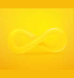 infinity sign icon 3d comic style editable vector image