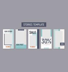 instagram stories template vector image