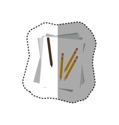 Isolated piece of paper and pencils design vector