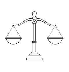 Justice balance cartoon vector