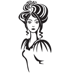 lady portrait vector image