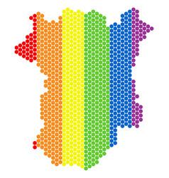 Lgbt spectrum pixel chechnya map vector