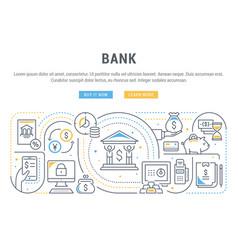 Linear banner bank vector