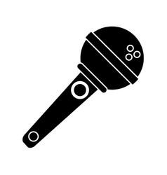 Microphone voice audio music pictogram vector