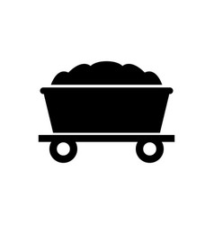 mine trolley icon vector image