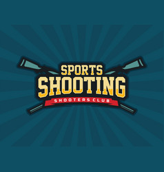 Modern professional emblem shooting vector