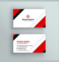Modern professional red business card design vector