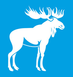 moose icon white vector image