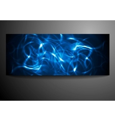 Neon waves background vector image