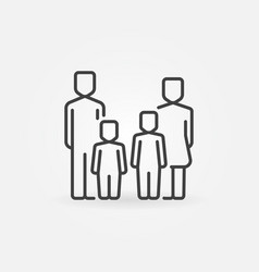 parents and kids icon vector image vector image