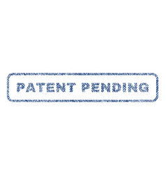 patent pending textile stamp vector image
